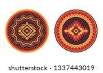 ethnic decorative elements.... | Shutterstock .eps vector #1337443019