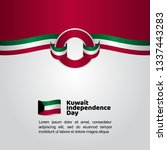 kuwait independence day flag... | Shutterstock .eps vector #1337443283