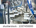 conveyor at food factory for... | Shutterstock . vector #1337450000