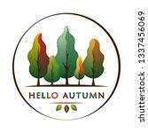 hello autumn   creative concept ... | Shutterstock .eps vector #1337456069