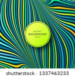 psychedelic optical illusion.... | Shutterstock .eps vector #1337463233