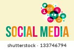 social media background of the... | Shutterstock .eps vector #133746794