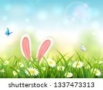 easter theme with bunny ears....   Shutterstock .eps vector #1337473313