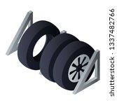 tyres set garage icon.... | Shutterstock .eps vector #1337482766