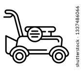 petrol lawnmower icon. outline... | Shutterstock .eps vector #1337486066