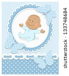 smiling african baby boy in a... | Shutterstock .eps vector #133748684