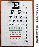 eye test chart | Shutterstock . vector #1337491136