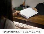 receptionist's sent the... | Shutterstock . vector #1337496746