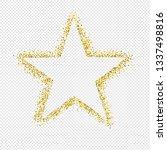 glitter star isolated...   Shutterstock . vector #1337498816