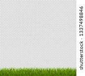 green grass border transparent...   Shutterstock . vector #1337498846