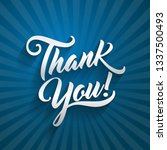 thank you beautiful lettering... | Shutterstock .eps vector #1337500493