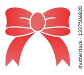 gift bow flat icon. silk bow... | Shutterstock .eps vector #1337506820