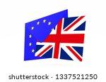 brexit concept. uk leaving eu....   Shutterstock . vector #1337521250