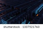 3d rendering abstract... | Shutterstock . vector #1337521763