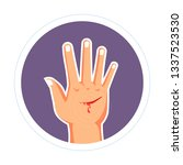 cut on hand injury bleeding...   Shutterstock .eps vector #1337523530