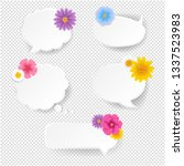 speech bubble set with flowers... | Shutterstock .eps vector #1337523983