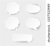 speech bubble set transparent... | Shutterstock .eps vector #1337523989