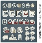 web communication icons | Shutterstock .eps vector #133753610