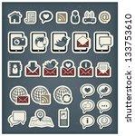 web communication icons | Shutterstock .eps vector #133753610