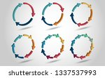 3d circle arrows for... | Shutterstock . vector #1337537993