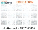 collection of vector line icons ... | Shutterstock .eps vector #1337548016
