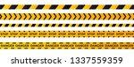 construction caution tape .... | Shutterstock .eps vector #1337559359