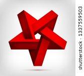 pentagonal illusion red... | Shutterstock .eps vector #1337559503
