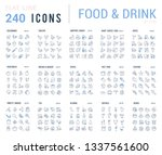 big collection of linear icons. ... | Shutterstock .eps vector #1337561600