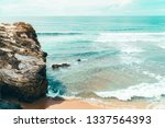 beautiful landscape and...   Shutterstock . vector #1337564393