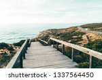 wooden stair leading to...   Shutterstock . vector #1337564450