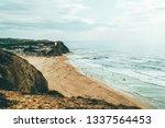 beautiful ocean beach ...   Shutterstock . vector #1337564453