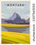 Montana Retro Poster. Usa...