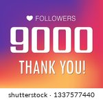 thanks for the first 9000... | Shutterstock .eps vector #1337577440