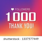 thanks for the first 1000... | Shutterstock .eps vector #1337577449