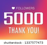thanks for the first 5000... | Shutterstock .eps vector #1337577473
