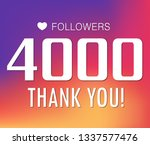 thanks for the first 4000... | Shutterstock .eps vector #1337577476
