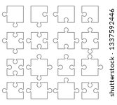 jigsaw pieces puzzle icon.... | Shutterstock .eps vector #1337592446
