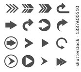 turn right arrow sign icons set ... | Shutterstock .eps vector #1337600510