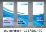 roll up banner blue line wave... | Shutterstock .eps vector #1337601470