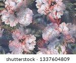 background of roses. seamless...   Shutterstock . vector #1337604809