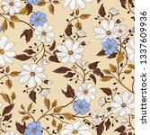 ornate seamless pattern with...   Shutterstock .eps vector #1337609936