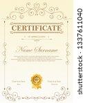 certificate of appreciation... | Shutterstock .eps vector #1337611040