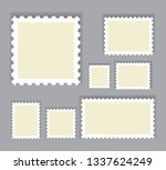 postage stamps set isolated on...   Shutterstock .eps vector #1337624249