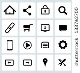 clean black web icons set | Shutterstock .eps vector #133762700