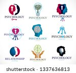 psychology  brain and mental... | Shutterstock .eps vector #1337636813