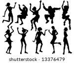 dancing  partying people... | Shutterstock .eps vector #13376479