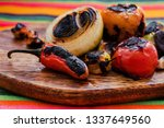 burnt chilies for a mexican... | Shutterstock . vector #1337649560