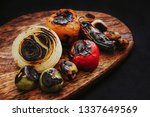 burnt chilies for a mexican... | Shutterstock . vector #1337649569