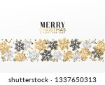 merry christmas and happy new... | Shutterstock . vector #1337650313