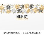 merry christmas and happy new... | Shutterstock . vector #1337650316
